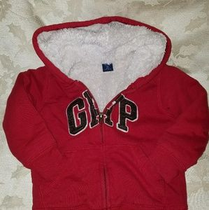 Red GAP 3 t Cozy Logo Hooded Sweatshirt